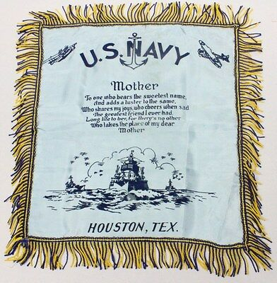 Home Front:  Pillow Cover - U.S. Navy Houston, Texas