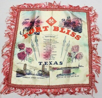 Home Front:  Pillow Cover - 4th Army, Fort Bliss Texas