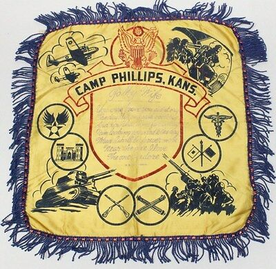 Home Front:  Pillow Cover - Camp Phillips, Kansas