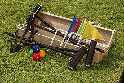 Traditional Garden Games - Royal York - Jeu de croquet dans coffret NEUF