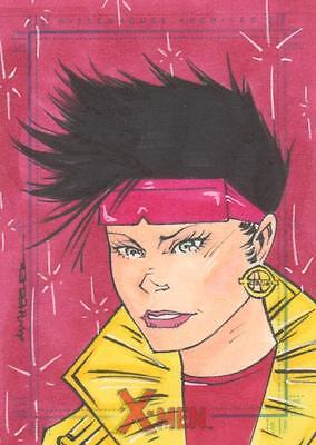 X-Men Archive - Color Sketch Card by Wheeler - Jubilee