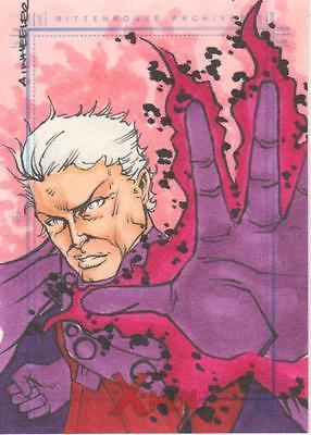 X-Men Archive - Color Sketch Card by Wheeler - Magneto