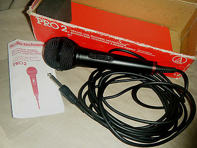 Vintage Boxed Audio-Technica Pro 2 Dynamic Microphone