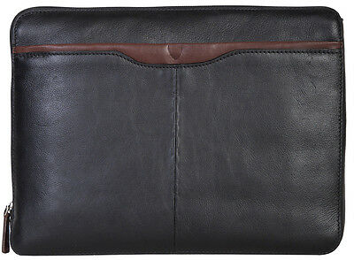 Scully Hidesign Leather Laptop Portfolio - Tan