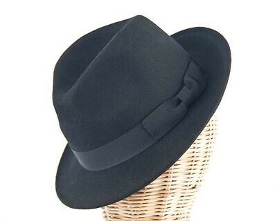 Black mens felt fedora jazz blues brothers hat. RRP $59