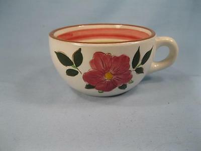 Wild Rose Cup Stangl Pottery Pink Flowers Green Leaves Vintage AS IS CONDITION O