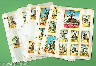 #D243. 180   DUTCH  WINDMILLS   MATCHBOX  LABELS, SERIES 1 to 18, ABOUT 1970