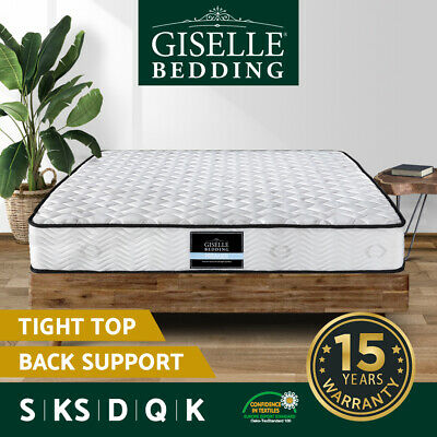 Giselle Bedding Mattress QUEEN DOUBLE SINGLE Extra Firm Bed Pocket Spring Foam