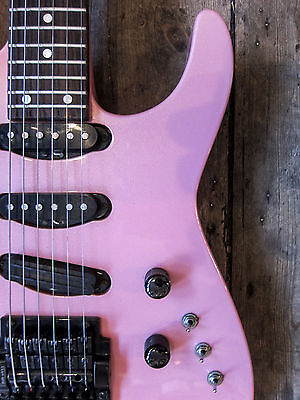 1986 Jackson Usa Custom Shop Guitar  Neckthrough Pearl Metallic Pink