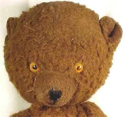Vintage Teddy Bear Chocolate Browm Chubby Arms & Legs Adorable 1950s Plush