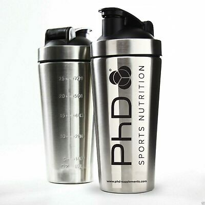 New PhD Stainless Steel Bottle Shaker Cup Shake Protein BCAA Mixer Jug