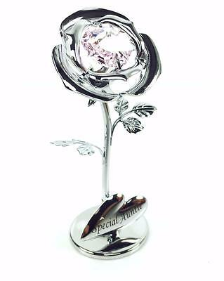 "Auntie Gift - Crystocraft Celebration Rose - ""Special Auntie"" SP436"