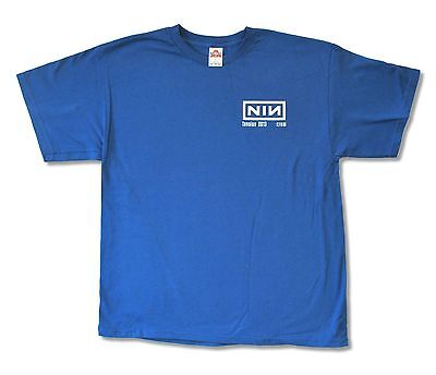 Nine Inch Nails Tension 2013 Tour Crew Blue T Shirt New Official