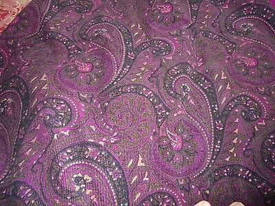 """Gothic paisley fabric material rich tones romantic chic measures approx 66x40"""""""
