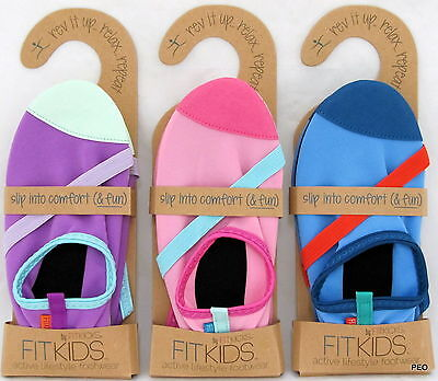 FitKids FitKicks Kids Slip On Asst Colors Shoes Sport Rubber Soles Flat Athletic