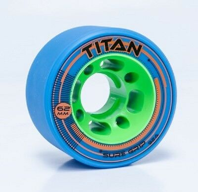 8 SURE-GRIP TITAN SPEED/JAM WHEELS 62 92a MM BLUE