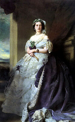 Oil painting franz xavier winterhalter julia louise bosville, lady middleton 36""