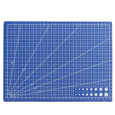 A4 Grid Lines Cutting Mat Scale Plate Craft Card Fabric Leather Paper Board UK