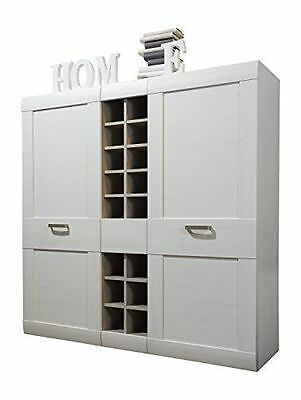 Maisonnerie 1433-864-57 Buffet Commode Blanc Pin Style Campagnard LxHxP NEUF