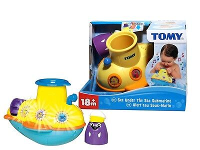 TOMY See Under The Sea Submarine 6 Sounds Light Up Baby Toddler Bath Time Toy