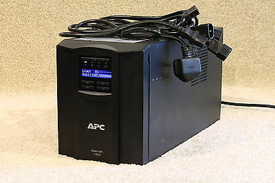 APC SMT1000i tower (Black) with LCD screen --brand new batteries-- 12m RTB wty.