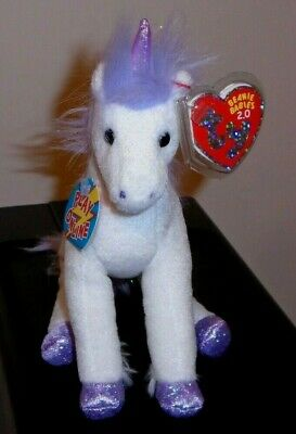 Ty Beanie Baby BB 2.0 ~ FABLE the Unicorn ~ MINT with MINT TAGS ~ Stuffed Animal