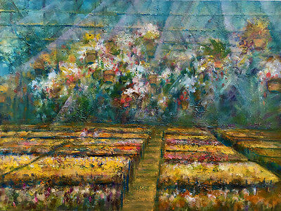 Summer Central New York Greenhouse   Oil on canvas 18x24 in. Hall Groat Sr.