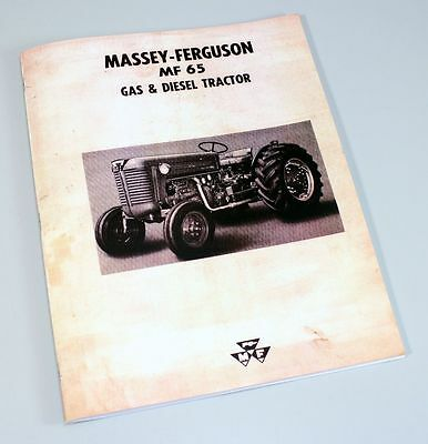 Massey Ferguson Mf-65 Tractor Owners Operators Manual Maintenance Carburetor