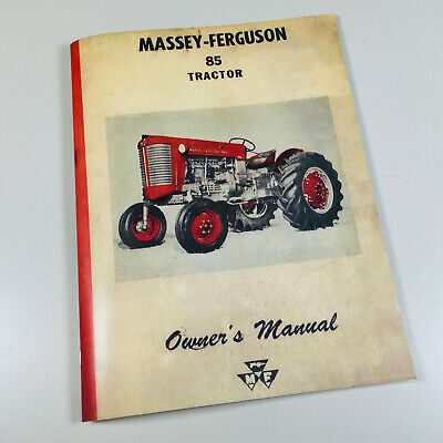 Massey Ferguson 85 Tractor Operators Owners Manual Mf Gas Maintenance Carburetor