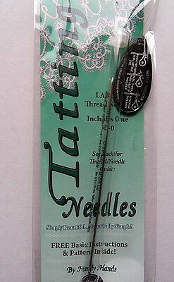 Tatting Needle  Size 3-0  Includes Basic Instructions & Pattern