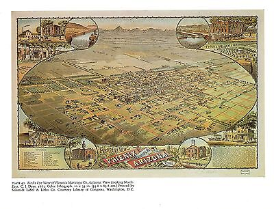 16x24 Bird/'s Eye View 1885 Albany Georgia Vintage Style City Map