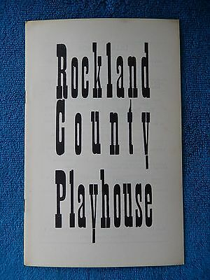 Fair Game - Rockland County Playhouse Theatre Playbill - 1958 - Benjamin