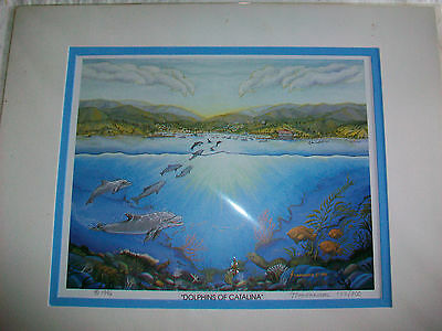 Dolphins Of Catalina Limited Edition Matted Lithograph