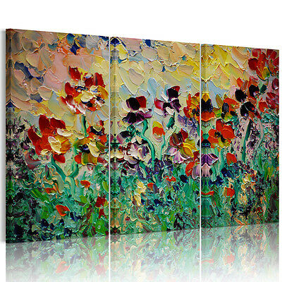 Unframed Canvas Prints Modern Home Decor Wall Art Picture-Abstract Flowers
