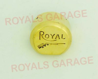 Royal Classic 350500 Efi Model Brass Gun Logo Distributor Cover