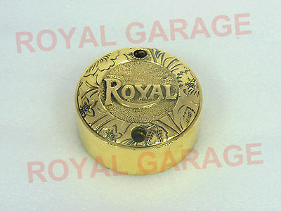 Royal Enfield Brass Contact Brake Point Distributor Cover Engraved Etching