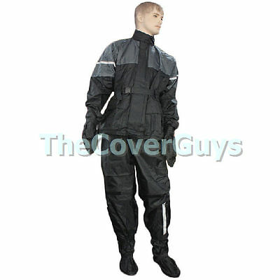 Motorcycle Rain suit 4 Piece 100% Waterproof M-XXL
