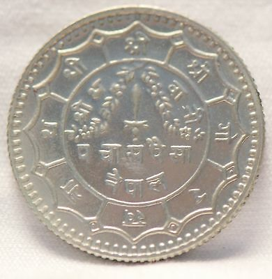 Nepal, (2030) (1973 AD) 50 Paisa, Proof, haze                               .gm.