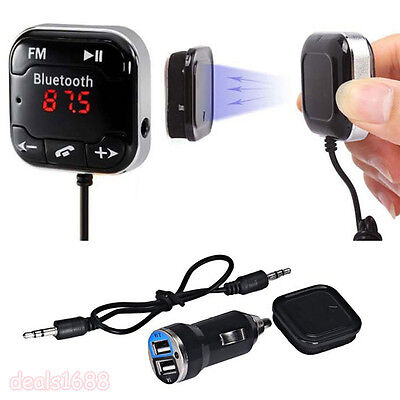 Kit Auto Wireless Bluetooth LCD FM Transmitter MP3 Lettore USB SD A distanza