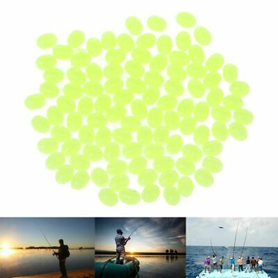 100Pcs Oval Luminous Fishing Lures Fishing Beads Sea Hard Floating Float Tackles