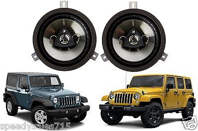 "6.5"" Kicker Speaker Upgrade For 2007-2016 Jeep Wrangler JK New Free Shipping"