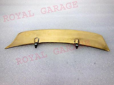 Customized Brass Royal Enfield Bsa Norton Triumph Front Mudguard Number Plate