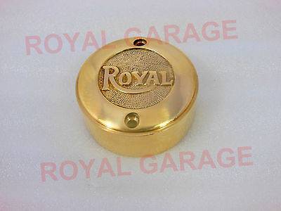 Royal Enfield Bullet Brass Contact Brake Point Distributor Cover Royal Embossed