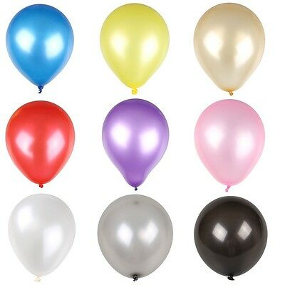 """100X 10 inches 10""""latex Pearlised balloons party wedding birthday anniversary LE"""