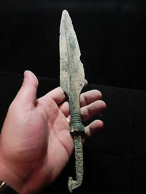 "ZURQIEH - OVER 3000 YEARS OLD BRONZE SPEAR HEAD- 31cm, 12 "" LONG"