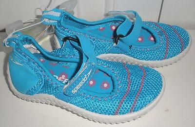 NWT Speedo Kids Toddler Girls Turquoise Blue Pink Mary Jane Water Shoes Sz S 5-6