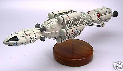 Ultra Probe Space 1999 Fictional Spacecraft Mahogany Dried Wood Model Small New