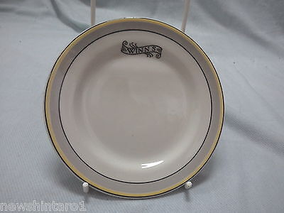 #Qq5. Ceramic Hotel Advertising Ware -  Winns  Plate, Small