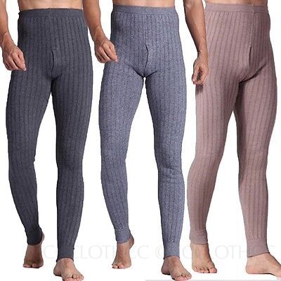 Mens / Womens Cashmere Leggings Winter Thermal Pants thick Wool Long Trousers