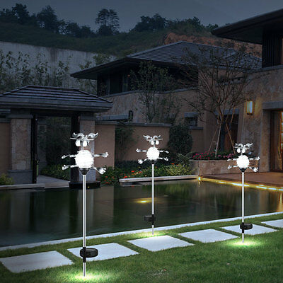 3er set led solar leuchten kugeln au en beleuchtung garten dekoration terrasse eur 39 90. Black Bedroom Furniture Sets. Home Design Ideas